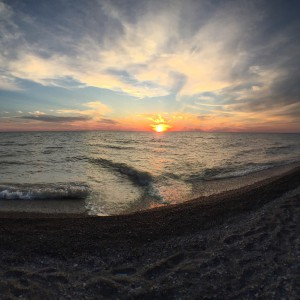 Lake Huron sunset photo courtesy of my friend Deanne